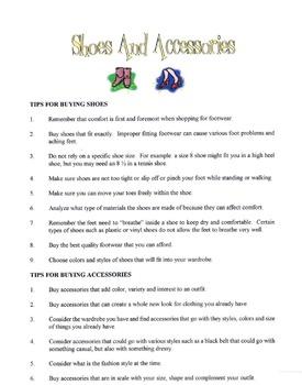 Shoes & Accessories Lesson
