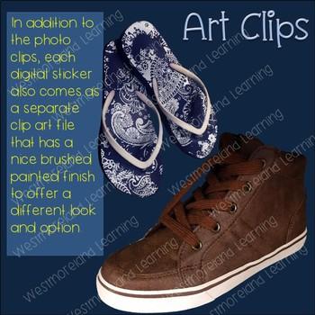 Shoes Clip Art Photo & Artistic Digital Stickers Just Shoes