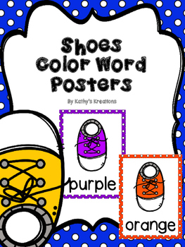 Shoes -Color Word Posters