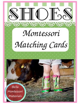 Montessori Matching Cards - Shoes