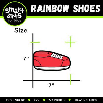 Shoes Rainbow Clip Art