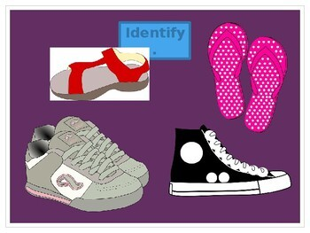 Shoes and Accessories in English PowerPoint