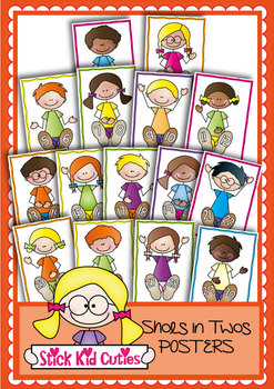 Counting By Twos - Shoes in Twos - Number Line Posters