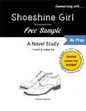 Shoeshine Girl Novel Study {Free Sample}