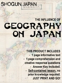 Japan under the Shoguns - The influence of geography. NO PREP!
