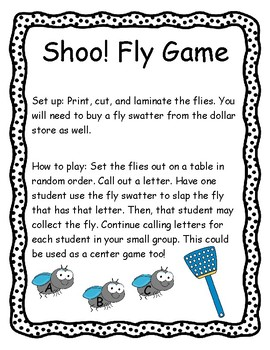 Shoo! Fly Alphabet Identification Game