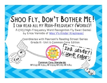 Shoo Fly, Don't Bother Me! CVC/High-Frequency Word Recogni