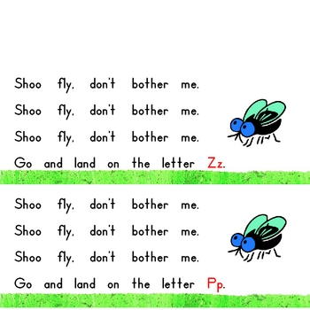 Shoo Fly Interactive Book, Printable in Full Color!