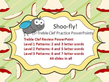 Shoo-Fly Treble Clef Practice PowerPoints