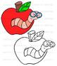 Shool Days Clipart - 42 illustrations color/bw bundle {KT Creates Original}