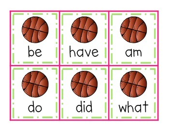 Shoot Hoops! A Basketball Sight Word Game {Dolch Primer Words}