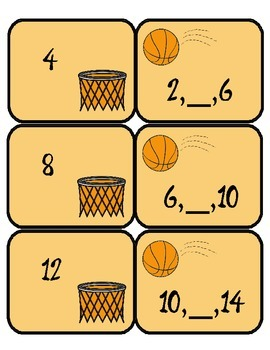 Shoot for a Math - Memory Match counting by 2's, 5's, and 10's - Differentiated