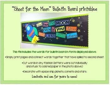 """Shoot for the Moon"" Bulletin Board Printables XL"