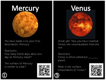 Shoot for the Stars: A Virtual Tour of our Solar System with QR codes