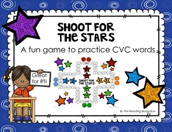 Shoot for the Stars - Game boards focusing on CVC words