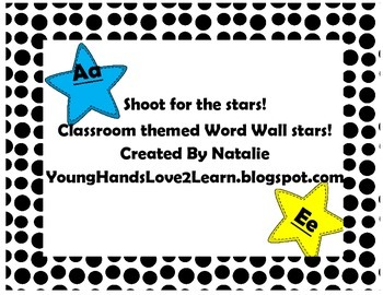 Shoot for the Stars Word Wall Letters