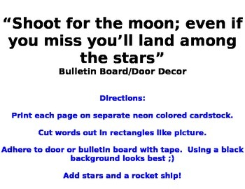 Shoot for the moon bulletin board/door decor