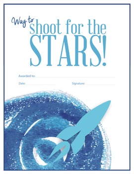 Shoot for the stars - reward certificate