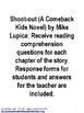 Shoot-out (A Comeback Kids Novel) Book Unit