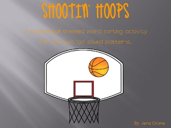 Shootin' Hoops - 'oo' Word Sort Activity