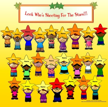 Shooting For The Stars Attendance Chart