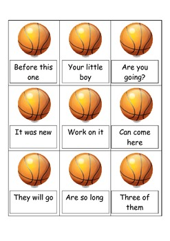 FRY words, Basketball fluency