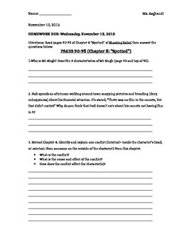 Shooting Kabul: Chapter 8 DOK guided reading questions
