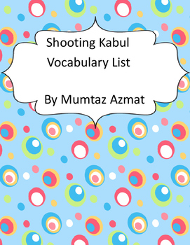 Shooting Kabul Vocabulary List :