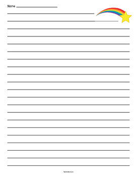 Shooting Star Lined Paper