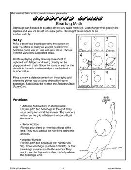 Shooting Stars (Beanbag Math)