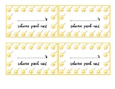 Shooting Stars Behavior Punch Card