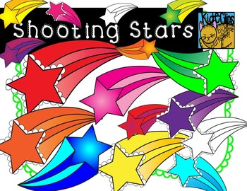 Shooting Stars Clip Art by Kid-E-Clips Commercial and Personal Use