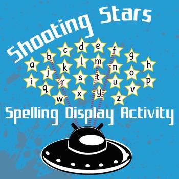 Shooting Stars Spelling Display Activity