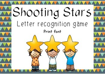 Shooting Stars - letter recognition game - Print font