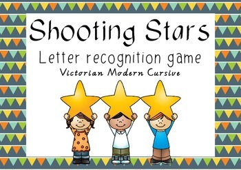 Shooting Stars - letter recognition game - Victorian Modern Cursive