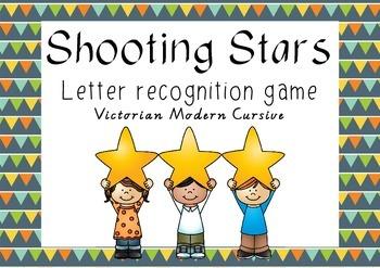 Letter recognition game - Victorian Modern Cursive