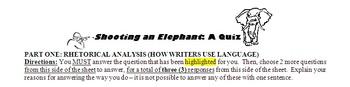 Shooting an Elephant Quiz