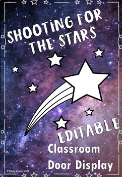Shooting for the stars EDITABLE door display OR bulletin board display