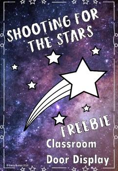 Shooting for the stars door display OR bulletin board display FREEBIE