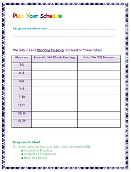 Shooting the Moon Guided Reading Journal {FREEBIE}