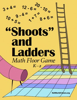"""""""Shoots"""" and Ladders Math Game / Floor Play (Addition and"""