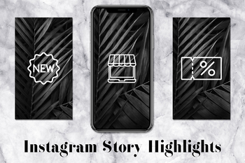 Shop Instagram Story Icons, Palm Leaves Instagram Covers