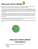Shop Local:  Farmer's Market Integrated Reading and Math Set