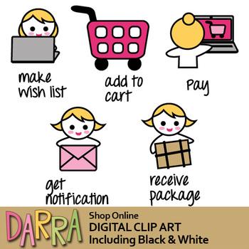 Shop Online Clip Art