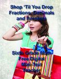 Shop 'Til You Drop:  Fractions, Decimals and Percents - Si