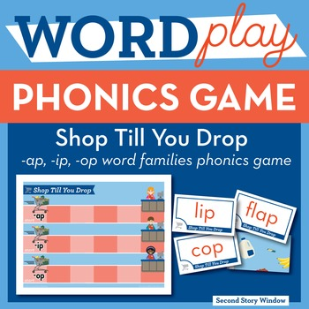 Shop Till You Drop Mixed Vowel Word Families Phonics Game