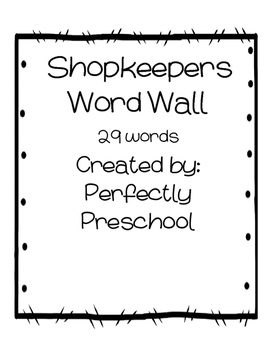 Shopkeepers Word Wall