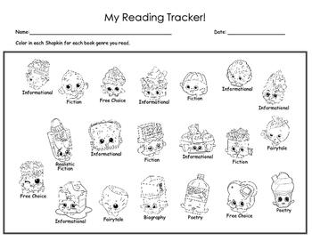 Shopkin Reading Tracker