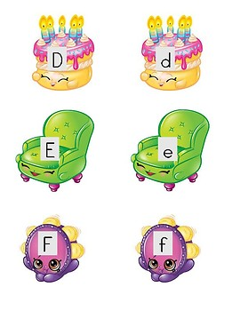 Shopkins Alphabet Sort