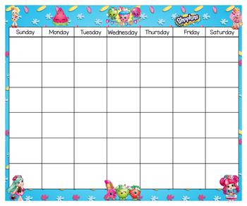 Shopkins Calendar & Numbers 24x20